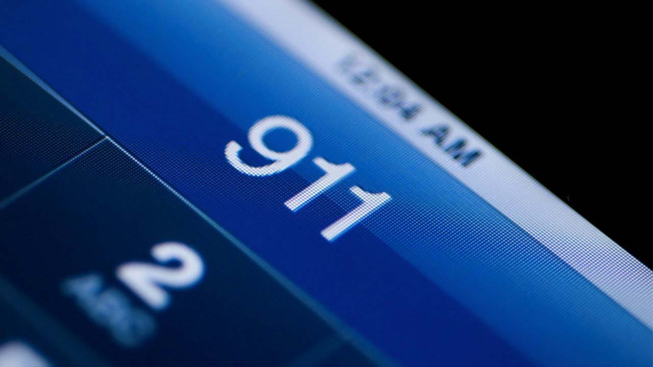 911 Call on screen
